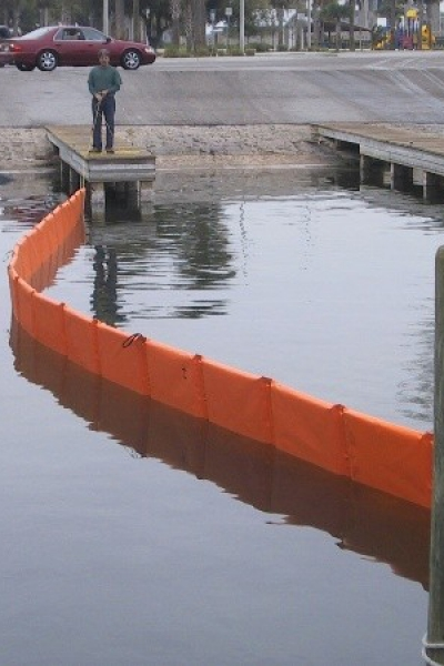 Oilboom Barriers for oil spills